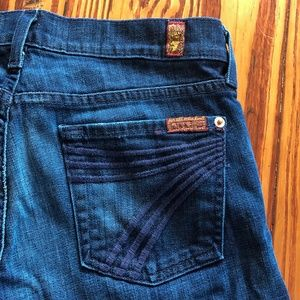 7 for All Mankind DOJO Cropped Capri Jeans Size 27